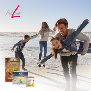 Fitline optimal set - Family outdoor, FitLine nutrition photo.